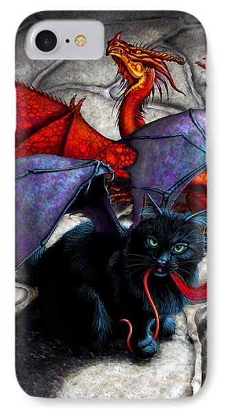 Dragon iPhone 7 Case - What The Catabat Dragged In by Stanley Morrison