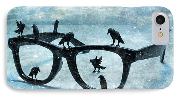 What The Crows Found IPhone Case by Jeff  Gettis