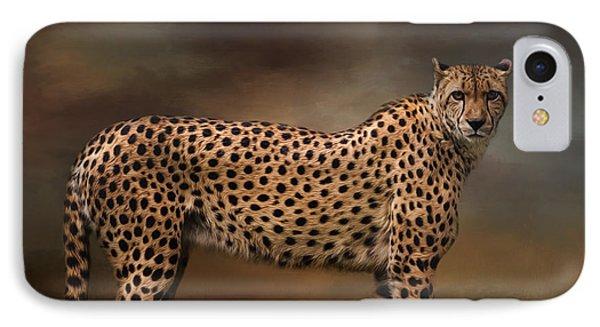 What You Imagine - Cheetah Art IPhone Case by Jordan Blackstone