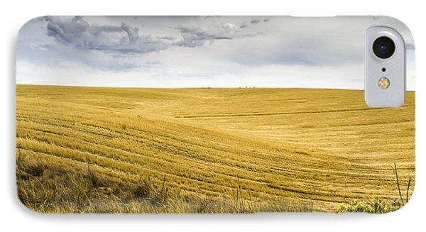 Wheat Fields With Storm Phone Case by John Trax