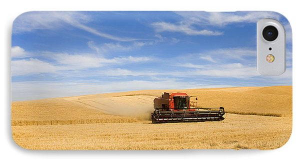 Rural Scenes iPhone 7 Case - Wheat Harvest by Mike  Dawson