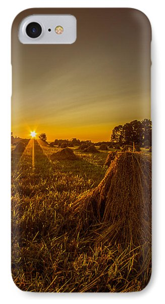 IPhone Case featuring the photograph Wheat Shocks by Chris Bordeleau
