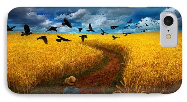 Wheatfield With Crows IPhone Case by Alex Ruiz
