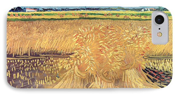 Wheatfield With Sheaves IPhone Case