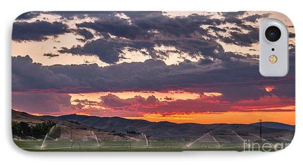 Wheel Line Sunrise IPhone Case by Robert Bales