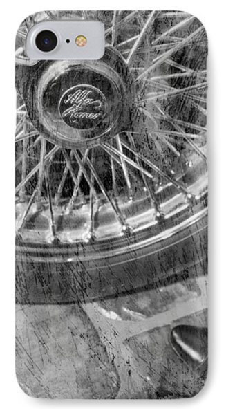 IPhone Case featuring the photograph Wheel Of An Old Car. by Andrey  Godyaykin
