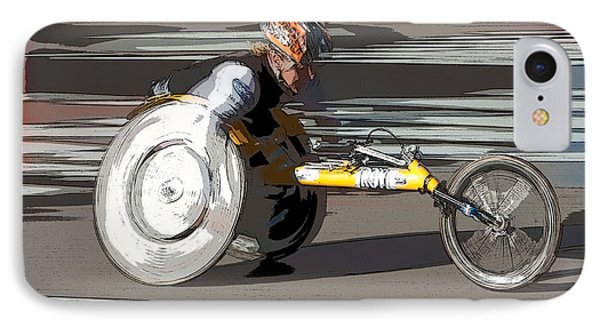 Wheelchair Racer Phone Case by Clarence Holmes