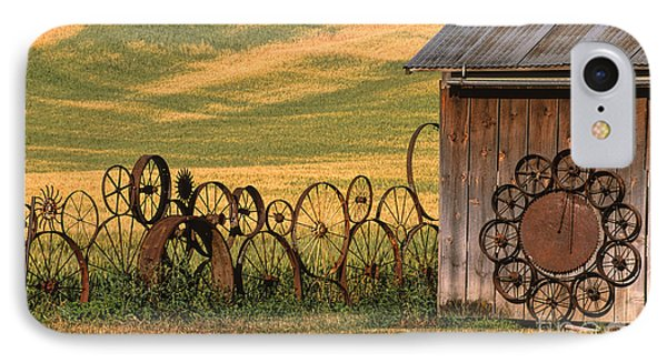 Wheels Of The Palouse Phone Case by Sandra Bronstein