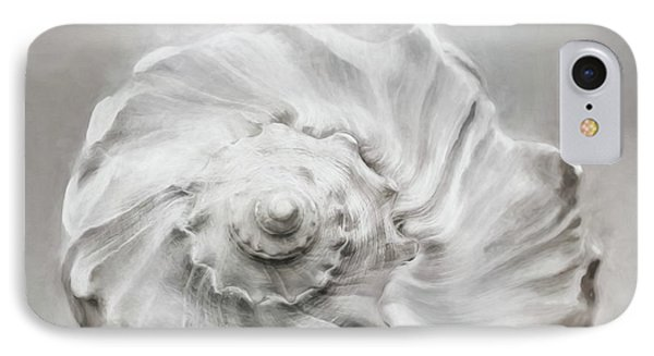 IPhone Case featuring the photograph Whelk In Black And White by Benanne Stiens