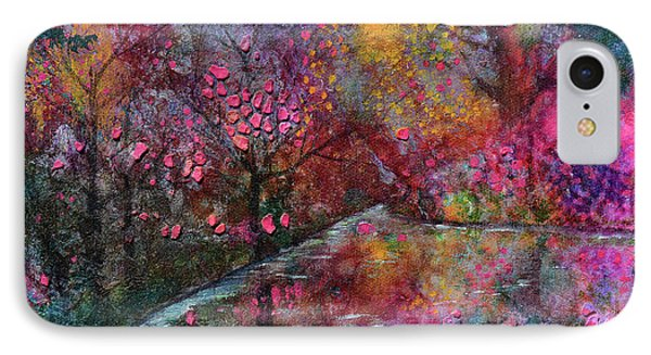 When Cherry Blossoms Fall IPhone Case by Donna Blackhall