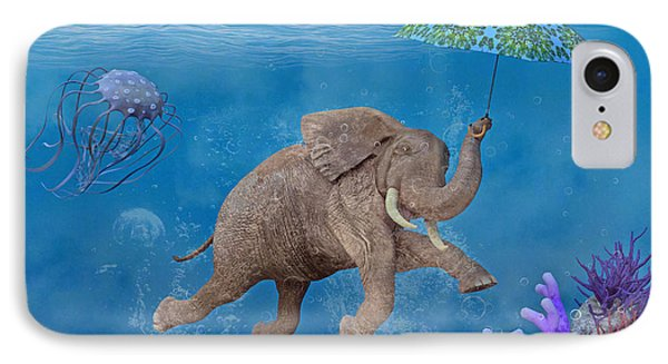 When Elephants Swim IPhone Case by Betsy Knapp