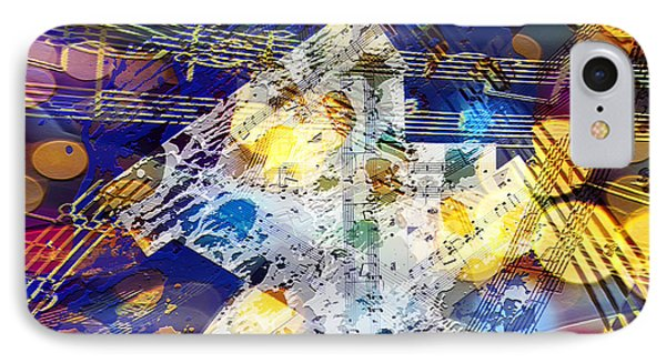 IPhone Case featuring the digital art When Music And Art Embrace by Margie Chapman