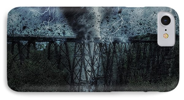 When The Tornado Hit The Bridge IPhone Case