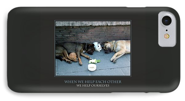 When We Help Each Other IPhone Case by Donna Corless