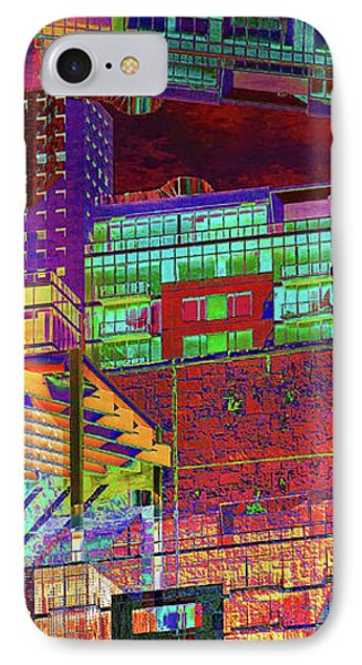 IPhone Case featuring the digital art Where City Shadows Fall by Wendy J St Christopher