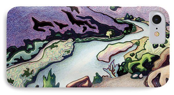 Where I Cross The Rio Grande Phone Case by Dale Beckman