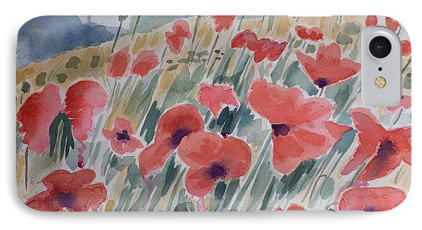 Where Poppies Grow IPhone Case by Barbara McMahon