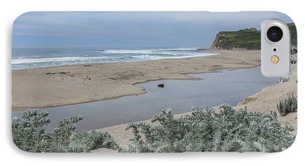 Where Scott Creek Meets The Ocean IPhone Case by Mark Barclay