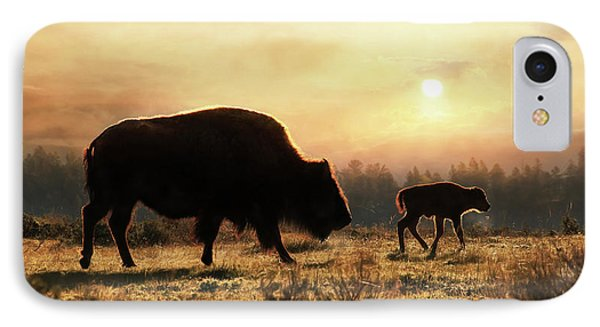 Where The Buffalo Roam IPhone Case by Lori Deiter