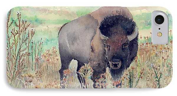Where The Buffalo Roams IPhone Case by Arline Wagner