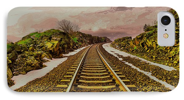 IPhone Case featuring the photograph Where The Track Bends by Jeff Swan