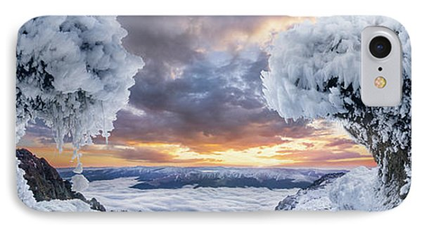 Mountain Sunset iPhone 7 Case - Where The Waves Collide by Adrian Borda
