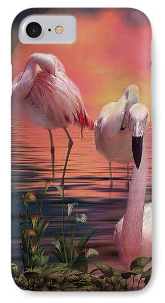 Where The Wild Flamingo Grow IPhone Case by Carol Cavalaris
