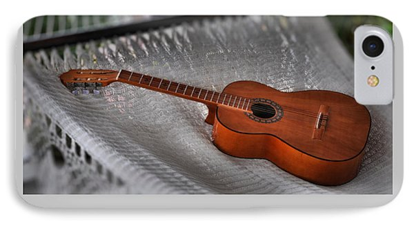 IPhone Case featuring the photograph While My Guitar Gently Sleeps by Jim Walls PhotoArtist