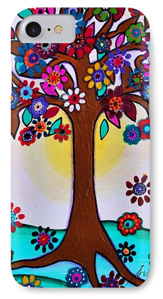 IPhone Case featuring the painting Whimsical Blooming Tree by Pristine Cartera Turkus