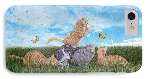 Whimsical Cats IPhone Case by Betsy Knapp