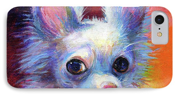Whimsical Chihuahua Dog Painting IPhone Case by Svetlana Novikova