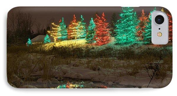 Whimsical Christmas Lights IPhone Case by Wayne Moran