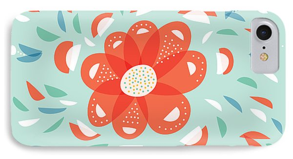 Whimsical Red Flower IPhone Case