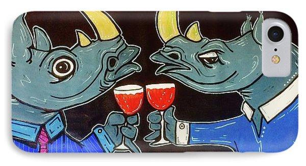 Rhinocerus iPhone 7 Case - Whinoes by Stuart Jefka