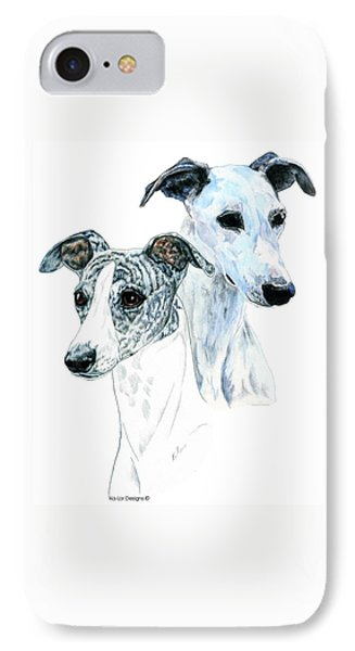 Whippet Pair IPhone 7 Case