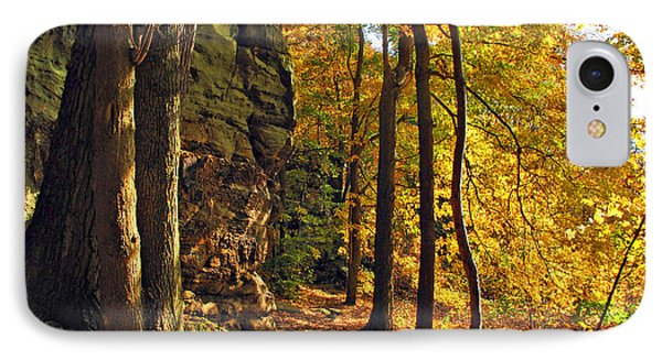 IPhone Case featuring the photograph Whipp's Ledges In Autumn by Joan  Minchak