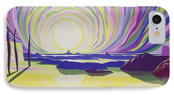 Whirling Sunrise - La Rocque Phone Case by Derek Crow
