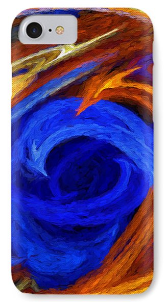 IPhone Case featuring the digital art Whirlpool Abstract by Andee Design