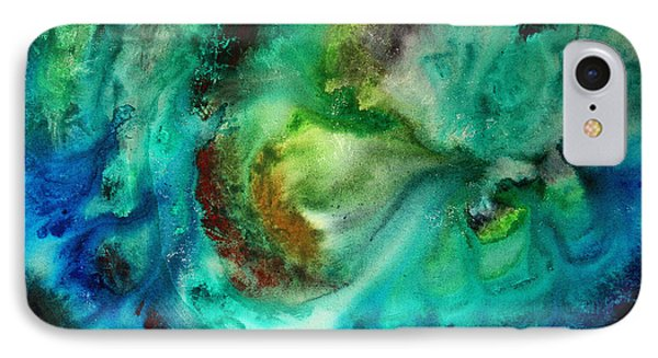 Whirlpool By Madart Phone Case by Megan Duncanson