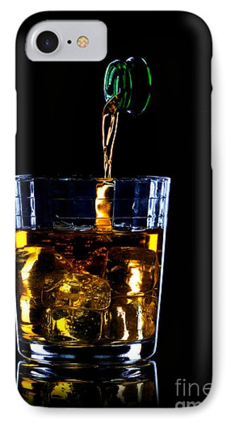 Whiskey Being Poured Phone Case by Richard Thomas