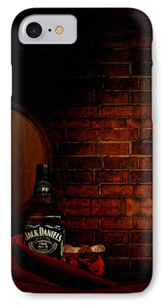 Whiskey Fancy IPhone Case by Lourry Legarde