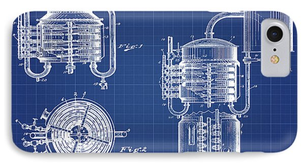 Whiskey Still 1906 In Blue Print IPhone Case