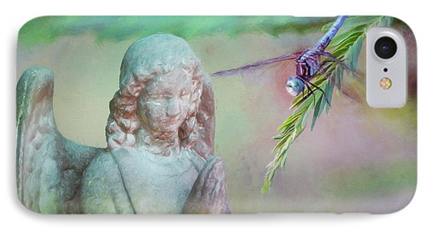 IPhone Case featuring the photograph Whisper Of Angel Wings by Bonnie Barry