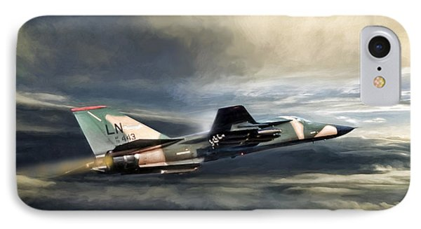Whispering Death F-111 IPhone Case by Peter Chilelli