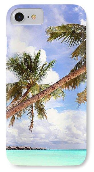 Whispering Palms. Maldives Phone Case by Jenny Rainbow