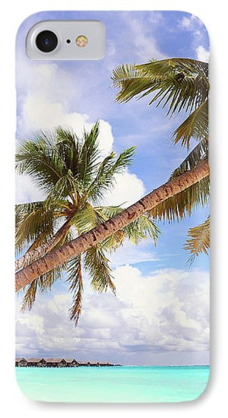 Whispering Palms. Maldives IPhone Case by Jenny Rainbow