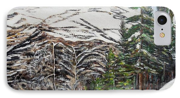 Whispering Pines Phone Case by Marilyn  McNish