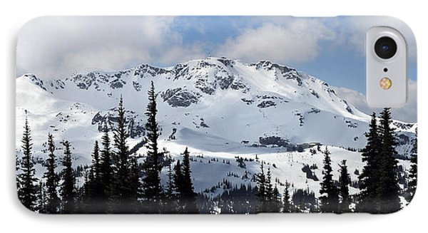 Whistler Mountain Peak View From Blackcomb Phone Case by Pierre Leclerc Photography