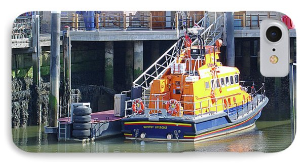 Whitby Lifeboat Phone Case by Rod Johnson