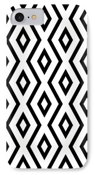 Beach iPhone 7 Case - White And Black Pattern by Christina Rollo